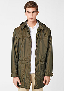 Lacoste Showerproof hooded parka. Men