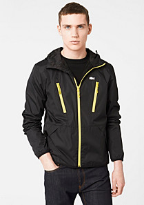 Lacoste Showerproof hooded Casual Sport jacket Men