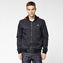 Lacoste Casual Sport Showerproof jacket with detachable hood Men