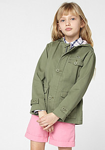 Lacoste Hooded parka with elasticated waist gender.gir