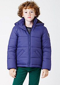 Lacoste Water repellent hooded down jacket Boy
