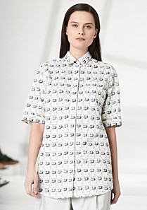 Lacoste Fashion Show printed shirt with elbow-length sleeves Women