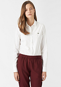 Lacoste Plain stretch belted shirt Women
