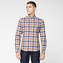 Lacoste Live check skinny fit shirt Men