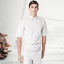 Lacoste Fashion Show shirt with elbow-length sleeves Men