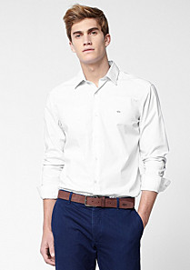Lacoste Chemise tailored fit unie Homme