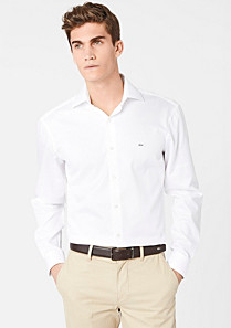 Lacoste Tailored fit Hemd uni Herren
