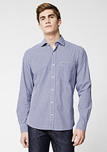 Lacoste Tailored fit Vichy shirt Men