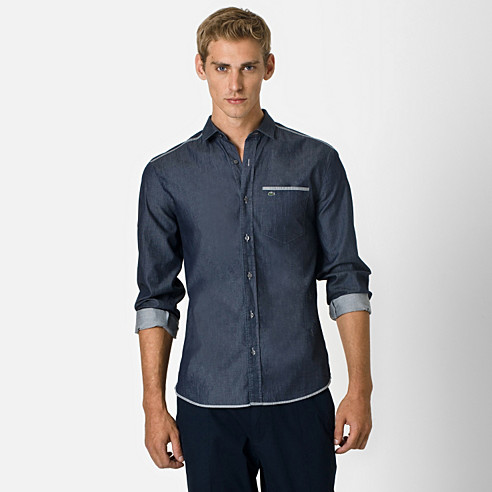 Slim fit shirt with pocket