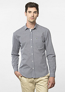 Lacoste Slim fit gingham shirt Men