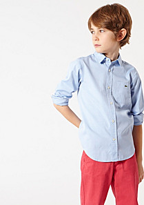 Lacoste Plain shirt with pocket Boy