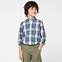 Lacoste Check shirt with long sleeves Boy