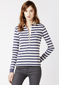 Classic fit Striped Lacoste Polo Women