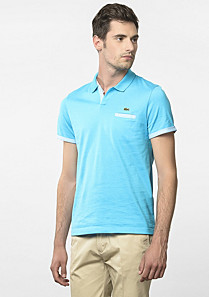 Slim fit Lacoste polo with spread collar Men