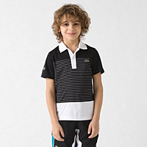 Andy Roddick Lacoste Sport striped polo Boy