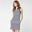 Gestreiftes Stretch Polo-Kleid