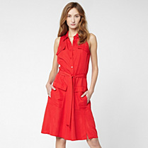 Lacoste Belted safari dress Women
