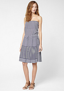 Lacoste Striped strapless dress Women