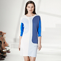 Lacoste Fashion Show multi-colour 3/4 sleeve dress Women