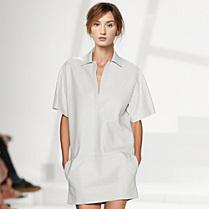 Lacoste Fashion Show leather dress Women