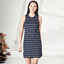 Lacoste Fashion Show Collection patterned dress Women