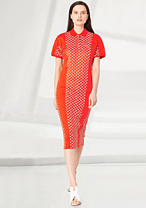 Lacoste Fashion Show Collection patterned polo dress Women