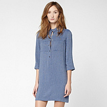 Lacoste 3/4 sleeve shirt dress Women
