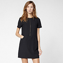 Lacoste Zipped dress with pockets Women