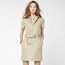 Lacoste Belted dress with pockets Women