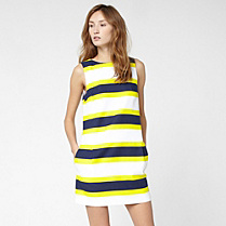 Lacoste Striped sleeveless dress Women