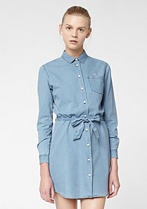 Lacoste Live denim belted dress Women