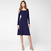 Lacoste Wool dress with bare shoulders Women