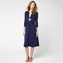 Lacoste 3/4 sleeve belted polo dress Women