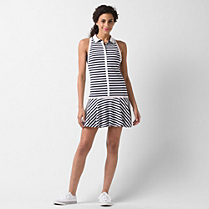 Lacoste Tennis sleeveless polo dress with piping Women