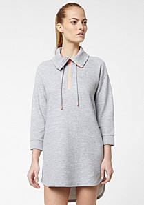 Lacoste Active 3/4 sleeve dress with zipped high neck Women