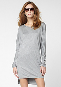 Lacoste Long sleeved fluid dress with pockets Women