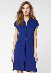 Lacoste Buttoned polo dress with drawstring waist Women