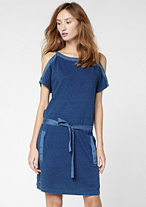 Lacoste Belted boat neck dress Women