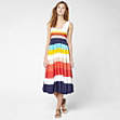 Long multi-colour striped dress