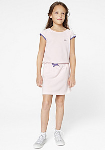 Lacoste Polo dress with drawstring waist gender.gir