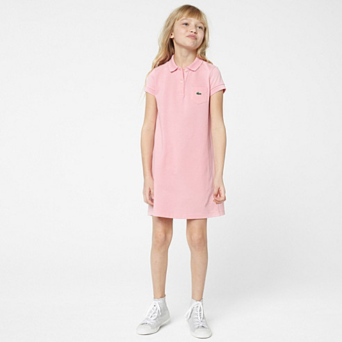 Plain polo dress with pocket