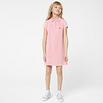 Lacoste Plain polo dress with pocket gender.gir