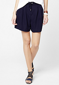 Lacoste Flowing line Bermudas with drawstring waist Women