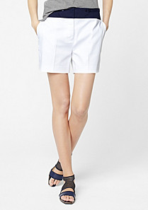 Lacoste Two-tone stretch shorts Women