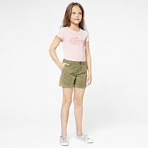 Lacoste Plain shorts with turn-ups gender.gir