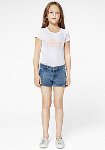 Lacoste Stretch-Shorts aus Denim gender.gir