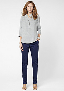 Lacoste Fitted cut trousers Women