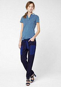 Lacoste Fluid trousers with contrasting pockets and waistband Women