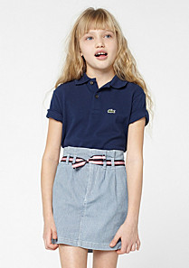 Lacoste Striped belted skirt gender.gir