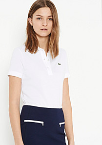 Plain Classic fit Lacoste polo Women